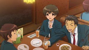 Rating: Safe Score: 21 Tags: all_male brown_eyes brown_hair drink food game_cg kunikida kyon male school_uniform short_hair suzumiya_haruhi_no_tsuisou suzumiya_haruhi_no_yuutsu taniguchi tie User: SciFi