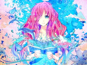 Rating: Safe Score: 59 Tags: animal book chaperu_(mukuone) close dolphin megurine_luka vocaloid User: FormX
