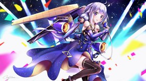 Rating: Safe Score: 25 Tags: anthropomorphism azur_lane blush cosplay dress elbow_gloves gloves long_hair pink_eyes purple_hair signed tagme_(artist) thighhighs twintails unicorn_(azur_lane) vocaloid vocaloid_china User: BattlequeenYume