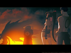 Rating: Safe Score: 18 Tags: cape dayakka kamina simon sunset tengen_toppa_gurren_lagann yoko_littner User: Oyashiro-sama