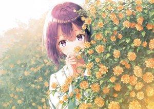Rating: Safe Score: 93 Tags: flowers hiten_goane_ryu original purple_eyes purple_hair scan short_hair User: BattlequeenYume