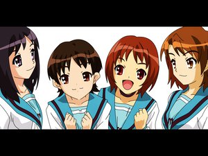 Rating: Safe Score: 30 Tags: black_eyes black_hair brown_eyes brown_hair enomoto_miyuki long_hair nakanishi_takako okajima_mizuki school_uniform short_hair suzumiya_haruhi_no_yuutsu zaizen_mai User: Oyashiro-sama