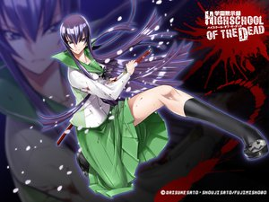 Rating: Safe Score: 92 Tags: blood busujima_saeko highschool_of_the_dead seifuku sword weapon zoom_layer User: pantu