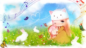 Rating: Safe Score: 23 Tags: bunny butterfly grass hug megurine_luka takoluka toeto tottsuan vocaloid wink User: FormX