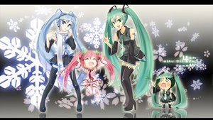 Rating: Safe Score: 86 Tags: blue_eyes blue_hair cherry cherry_blossoms chibi food green_eyes green_hair hachune_miku hatsune_miku initial_f leek long_hair panties pink_hair sakura_miku scarf snow striped_panties thighhighs tie twintails underwear vocaloid yuki_miku User: shaneoyo