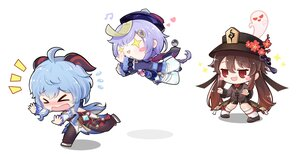 Rating: Safe Score: 5 Tags: aqua_hair blush brown_hair chibi flowers hat horns long_hair original purple_hair red_eyes ribbons short_hair stockings tears twintails User: Maboroshi