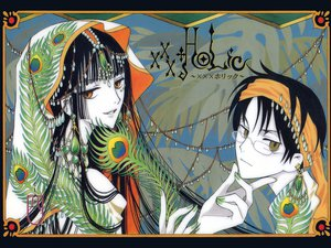Rating: Safe Score: 17 Tags: clamp feathers glasses headdress ichihara_yuuko male watanuki_kimihiro xxxholic User: Oyashiro-sama