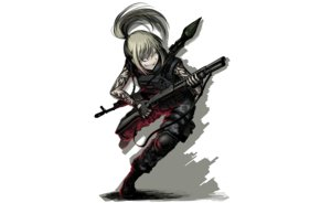 Rating: Safe Score: 89 Tags: armor blonde_hair boots hellshock long_hair original ponytail tattoo weapon User: TommyGunn