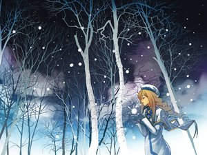 Rating: Safe Score: 52 Tags: alicia_florence aria hirokiku night tree winter User: Eremes