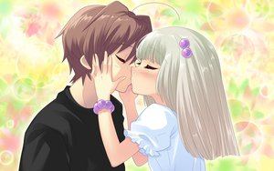 Rating: Safe Score: 21 Tags: flyable_heart game_cg itou_noiji kiss yellow_eyes yukishiro_suzuno User: smootch