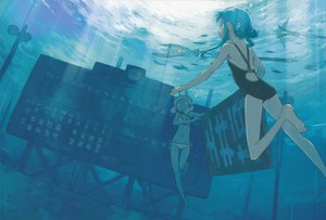 Rating: Safe Score: 37 Tags: bikini chiaki fumika kuroboshi_kouhaku ruins scenic shigofumi swimsuit underwater water User: 秀悟
