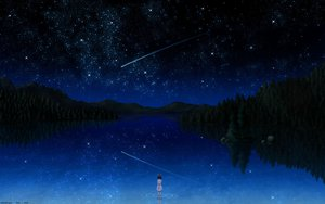 Rating: Safe Score: 197 Tags: darker_than_black night pai scenic signed sky stars tree water User: Eruku