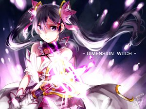 Rating: Safe Score: 85 Tags: aisha_(elsword) black_hair breasts choker cleavage dress elsword gloves long_hair magic purple_eyes signed tagme_(artist) twintails wand witch User: ANIMEHTF