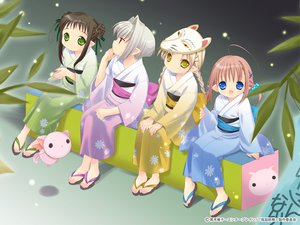 Rating: Safe Score: 10 Tags: bottle_fairy chiriri festival hororo kururu oboro pointed_ears sarara tokumi_yuiko User: Oyashiro-sama