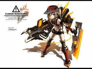 Rating: Safe Score: 203 Tags: anthropomorphism gia gun hat orange_eyes original ponytail short_hair sword tail weapon white white_hair wings yellow_eyes User: Tensa