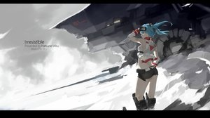 Rating: Safe Score: 198 Tags: elbow_gloves gloves gray hatsune_miku mivit polychromatic shorts twintails vocaloid watermark User: Flandre93