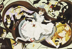 Rating: Safe Score: 45 Tags: alice_(pandora_hearts) alice_(wonderland) alice_in_wonderland animal_ears cheshire_cat crossover emily_(pandora_hearts) gilbert_nightray oz_bezarius pandora_hearts parody scan sharon_rainsworth watermark User: Katsumi