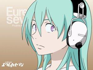 Rating: Safe Score: 16 Tags: aqua_hair close eureka eureka_seven headphones jpeg_artifacts purple_eyes User: Oyashiro-sama