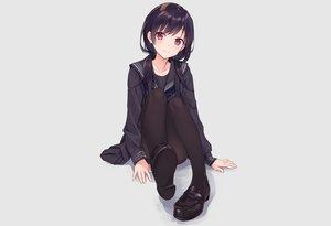Rating: Safe Score: 98 Tags: blush gray long_hair original pantyhose purple_eyes purple_hair rimo school_uniform skirt twintails User: otaku_emmy