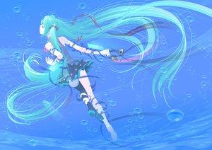 Rating: Safe Score: 68 Tags: aqua_hair hata_hata hatsune_miku headphones long_hair twintails underwater vocaloid water User: HawthorneKitty