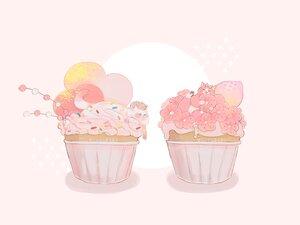 Rating: Safe Score: 13 Tags: animal cake cat cherry_blossoms flowers food fruit hakuchizu_(jedo) nobody original pink polychromatic strawberry watermark User: otaku_emmy