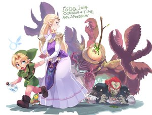 Rating: Safe Score: 34 Tags: aqua_eyes ario armor blonde_hair boots dress fairy ganondorf hat link_(zelda) long_hair male navi pointed_ears princess_zelda red_hair signed the_legend_of_zelda User: otaku_emmy