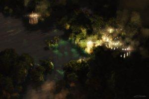 Rating: Safe Score: 72 Tags: 3d building landscape night nobody original scenic signed tree waisshu_(sougyokyuu) water User: RyuZU