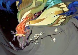 Rating: Safe Score: 96 Tags: anthropomorphism butterfly flowers long_hair luman orange_hair original User: Flandre93