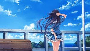 Rating: Safe Score: 213 Tags: abhar blue_hair clouds deep_blue_sky_&_pure_white_wings game_cg koga_sayoko long_hair misaki_kurehito park ribbons school_uniform skirt sky water User: korokun