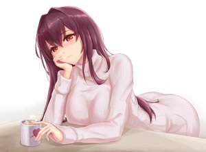 Rating: Safe Score: 67 Tags: fate/grand_order fate_(series) long_hair purple_hair red_eyes scathach_(fate/grand_order) skyde_kei white User: Nepcoheart