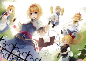 Rating: Safe Score: 83 Tags: alice_margatroid blonde_hair blue_eyes book bow doll instrument mage nanahara_fuyuki shanghai_doll short_hair thighhighs touhou violin User: Maboroshi