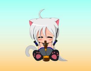 Rating: Safe Score: 32 Tags: animal_ears catgirl chibi suzunonaruki tagme tail vocaloid yowane_haku User: gameaddict1