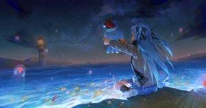 Rating: Safe Score: 39 Tags: beach blue_hair christmas hat ji_dao_ji loli long_hair night santa_hat scarf school_uniform tagme_(character) virtuareal water yellow_eyes User: sadodere-chan