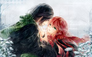 Rating: Safe Score: 95 Tags: black_hair green_eyes harry_potter lily_evans meiriel red_hair severus_snape snow tears tree winter User: PAIIS