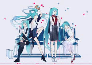 Rating: Safe Score: 96 Tags: 10zao aqua_eyes aqua_hair boots dress drink flowers hatsune_miku headphones long_hair polychromatic skirt socks thighhighs twintails umbrella vocaloid wink User: FormX