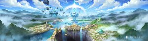 Rating: Safe Score: 48 Tags: building city clouds landscape original scenic sky tagme_(artist) water User: Maboroshi