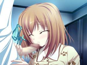 Rating: Explicit Score: 54 Tags: blush brown_hair censored fellatio game_cg koyuki_amagase magus_tale pajamas penis ribbons short_hair tenmaso whirlpool User: Oyashiro-sama