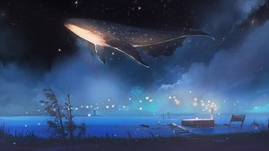 Rating: Safe Score: 109 Tags: animal fish hanasei night nobody original scenic sky stars User: FormX