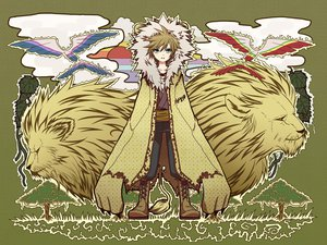 Rating: Safe Score: 33 Tags: agi_(holic2007) all_male animal bird blonde_hair clouds green_eyes hoodie kagamine_len lion male tree vocaloid User: Maboroshi