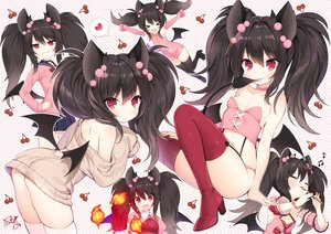 Rating: Questionable Score: 81 Tags: animal_ears ass black_hair byulzzimon cat_smile demon dress elbow_gloves fang flute food fruit garter_belt gloves instrument loli long_hair mabinogi music red_eyes seifuku signed skirt stockings succubus succubus_(mabinogi) tail thighhighs twintails wings User: RyuZU