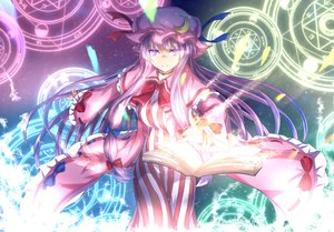 Rating: Safe Score: 38 Tags: book bow breasts dress hat long_hair mage magic patchouli_knowledge pink_eyes pink_hair ribbons tagme_(artist) touhou User: RyuZU