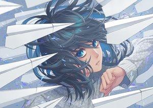 Rating: Safe Score: 46 Tags: aqua_eyes black_hair close minami_(minami373916) original paper short_hair User: RyuZU