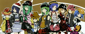 Rating: Safe Score: 51 Tags: aki_minoriko aki_shizuha animal_ears blonde_hair blue_eyes blue_hair blush green_hair hat ideolo inubashiri_momiji kawashiro_nitori kochiya_sanae long_hair moriya_suwako purple_hair red_eyes scarf shameimaru_aya short_hair skirt tail thighhighs touhou wolfgirl yasaka_kanako yellow_eyes User: Tensa