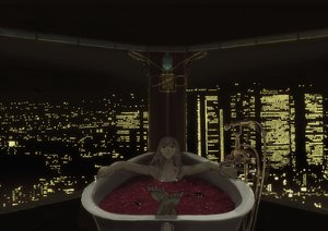 Rating: Questionable Score: 72 Tags: bath furumi_shouichi megurine_luka night petals vocaloid User: rargy