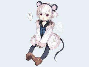 Rating: Safe Score: 66 Tags: animal_ears blue boots capriccio fang headband hoodie loli mousegirl original pantyhose pink_eyes ponytail school_uniform short_hair tail watermark white_hair User: otaku_emmy