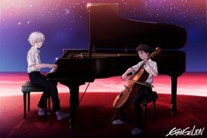 Rating: Safe Score: 53 Tags: all_male ikari_shinji instrument male nagisa_kaworu neon_genesis_evangelion piano shian_(my_lonly_life.) stars User: FormX