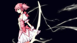 Rating: Safe Score: 40 Tags: an_(angular-angler) black bow bow_(weapon) dress kaname_madoka mahou_shoujo_madoka_magica pink_hair twintails weapon User: HawthorneKitty