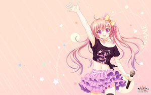 Rating: Safe Score: 157 Tags: akabeisoft2 alpha_(alpha91) long_hair microphone pink_hair purple_eyes skirt tagme twintails User: Wiresetc