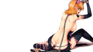 Rating: Questionable Score: 423 Tags: animal_ears bell bondage bow brown_eyes catgirl chain elbow_gloves gloves hairu nami no_bra one_piece orange_hair ribbons short_hair tail thighhighs third-party_edit white User: jjjjjhhhhh