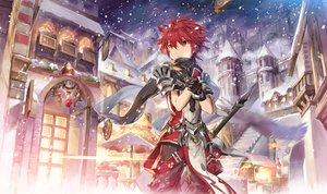 Rating: Safe Score: 20 Tags: all_male building city elsword elsword_(character) gloves male red_eyes red_hair scarf scorpion5050 short_hair snow stairs sword weapon User: RyuZU